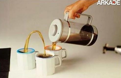 Tá aí uma boa maneira de esfriar o leite!