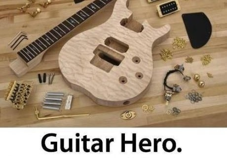 A maior dificuldade fica no montar da guitarra!