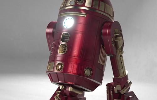 E como a moda agora é Avengers ele fez de Iron Man!