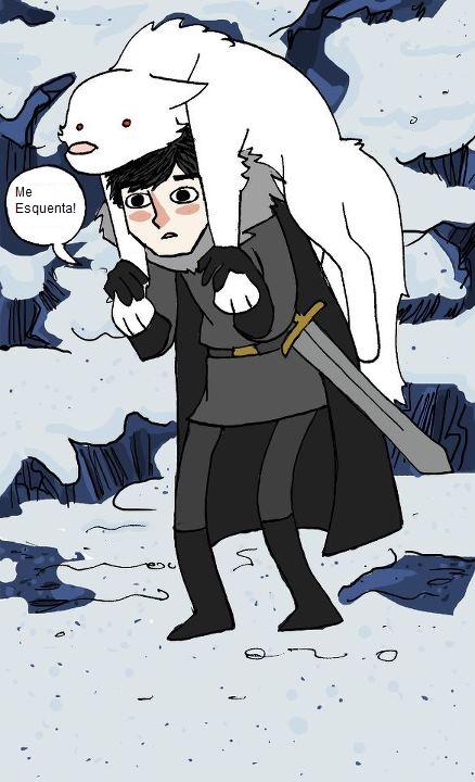 Queria ter um lobo gigante nesse frio também =/
