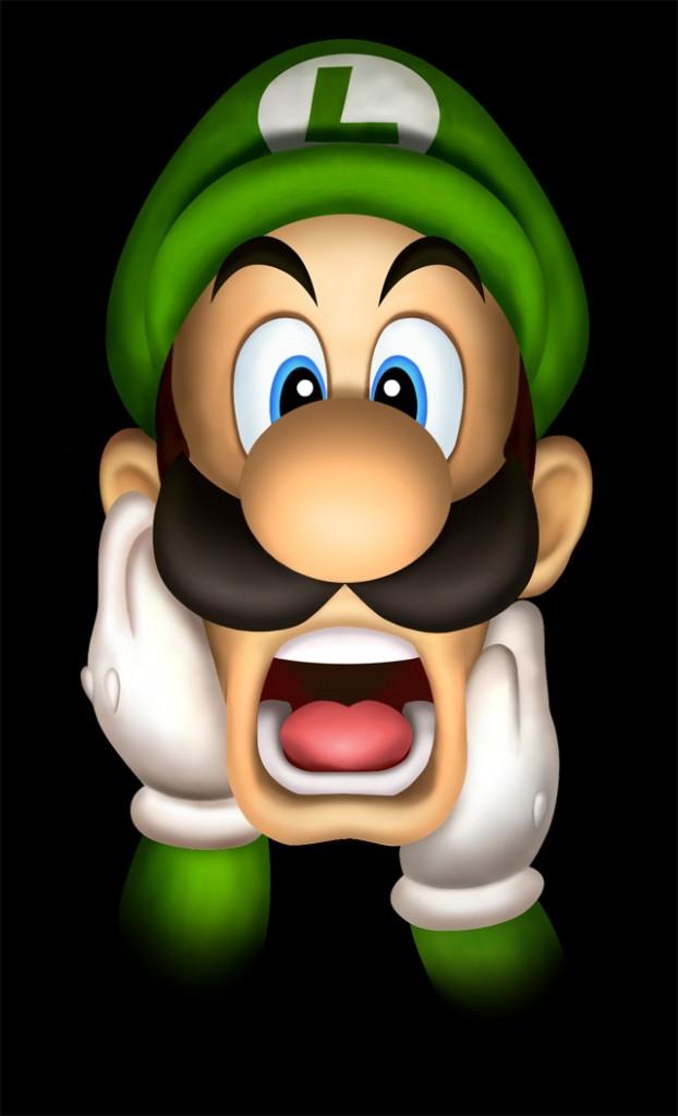 O Luigi tem um sutiã na cara!