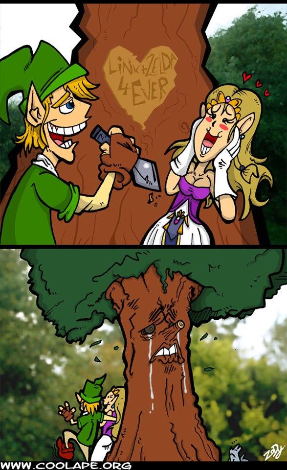 A Deku Tree também sente dor!