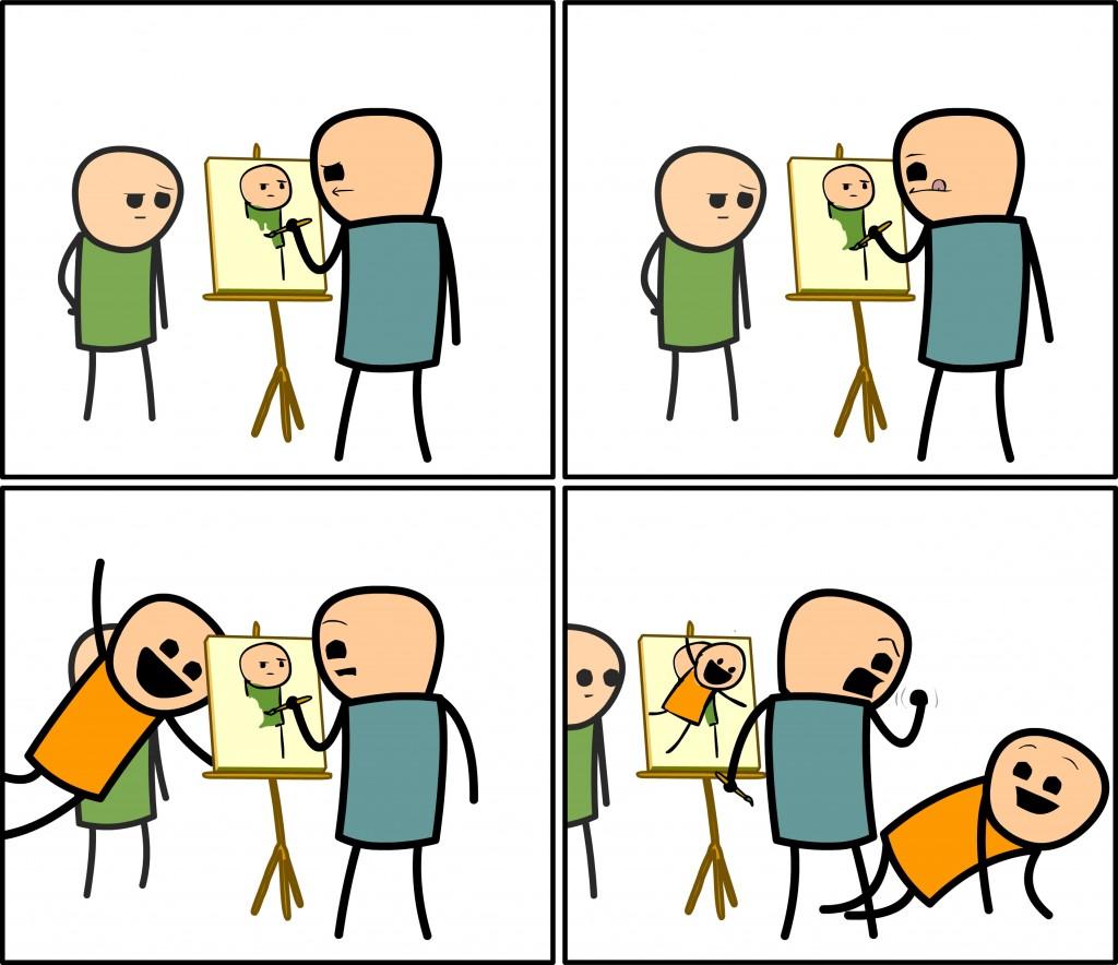 Agora vou ter que pintar tudo de novo!
