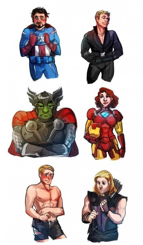 Até que a Black Widow ficou bem assim!