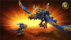 World of Warcraft - Montaria Corvo Medonho e mascote Filhote Medonho