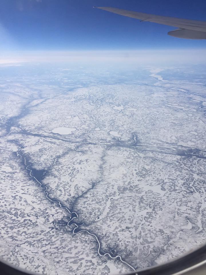 Foto de quando passamos por cima do Canadá, lindo demais!