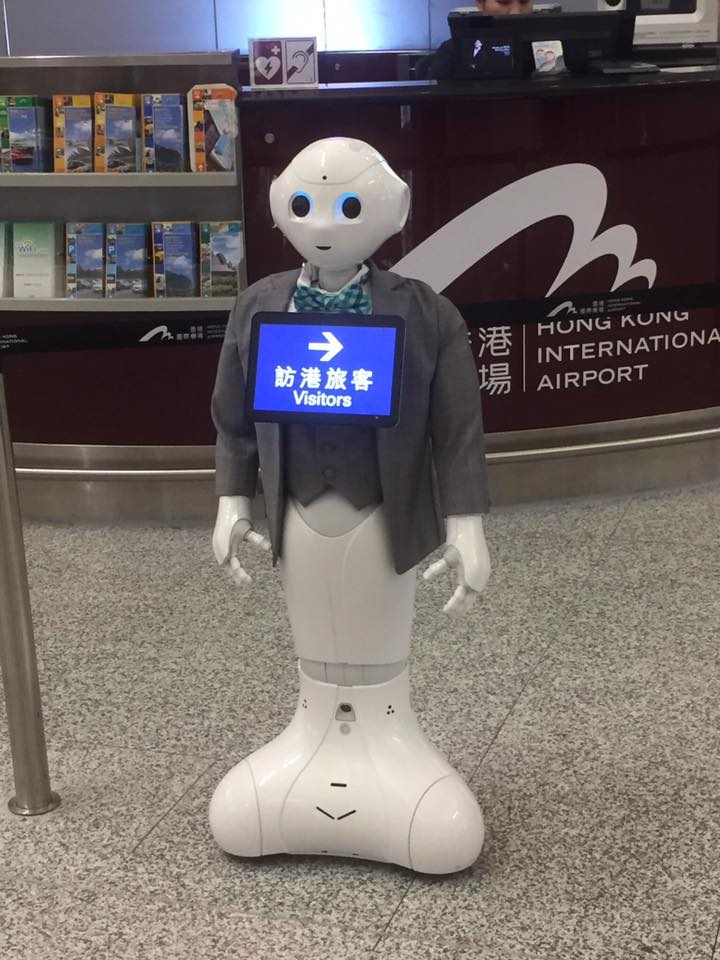 Muitas tecnologias nesse aeroporto